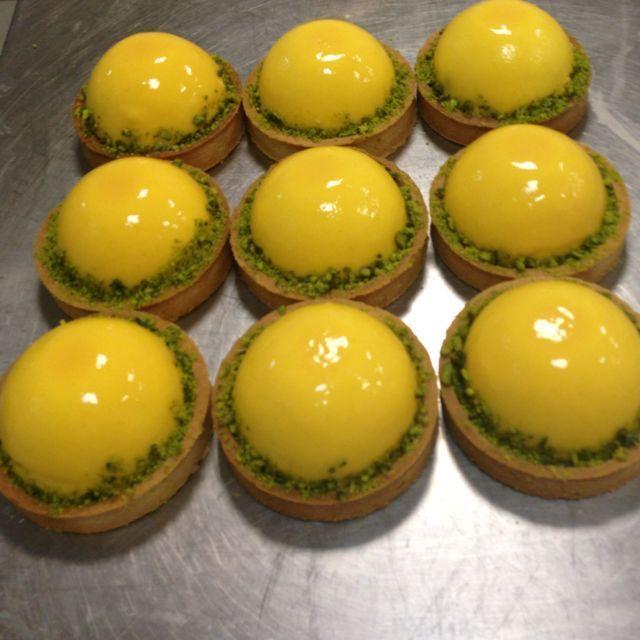 Tartelette poire gla age miroir jaune recette de for Miroir jaune