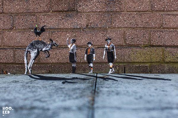 Street art door Pablo Delgado