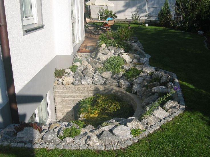 Pin von Sarah auf Garten  Egress window Basement entrance und Basement living rooms