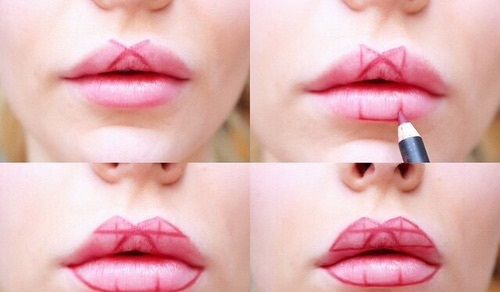 Makeup Trick: Fuller Lips Without Surgery