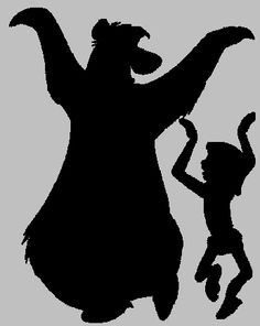 baloo and mowgli silhouette - Google Search