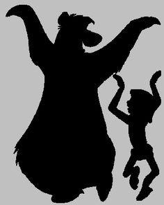 baloo and mowgli silhouette - Google Search