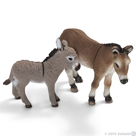 Schleich Donkeys On The Farm Toys Horses Donkey