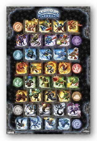 (22x34) Skylanders Spyro's Adventure Grid Video Game Poster Print $2.47