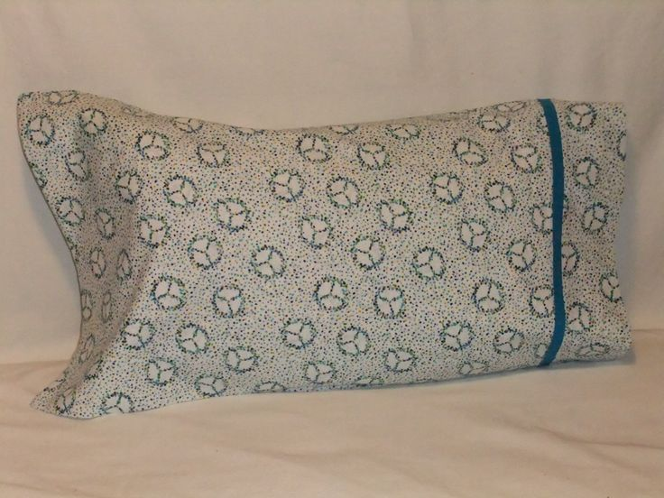 """PEACE #6 PILLOWCASE - 20"""" x 35"""" by KatiesCOVERS on Etsy"""