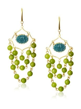 David Aubrey Beaded Chandelier Earrings