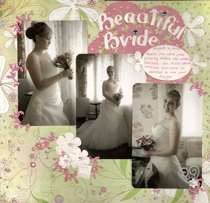 Beautiful Bride - before the ceremony - Scrapbook.com