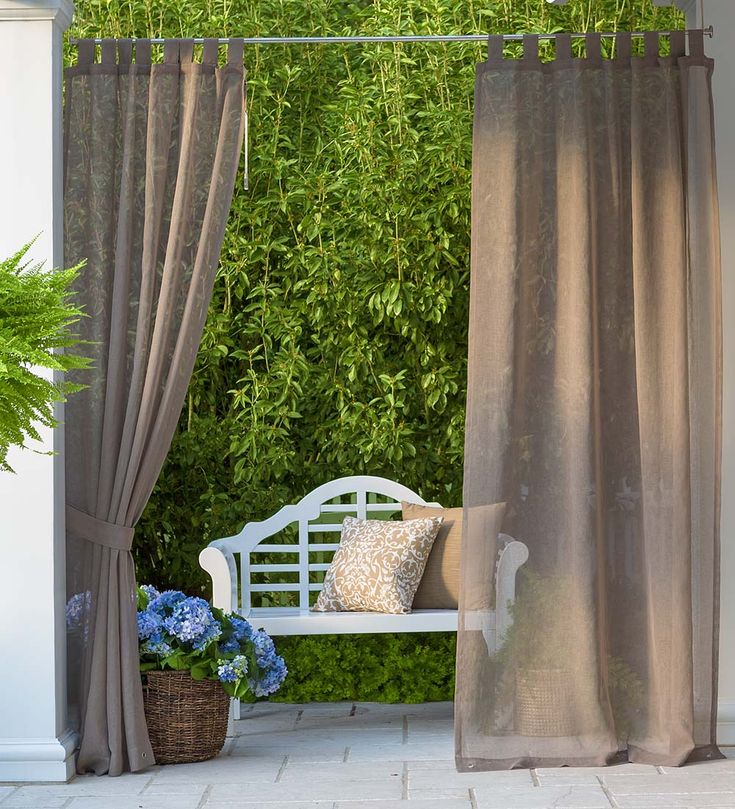 SunSpun Tab Top Outdoor Curtains | Hang These Indoor/outdoor Semi Sheer  Woven Curtains