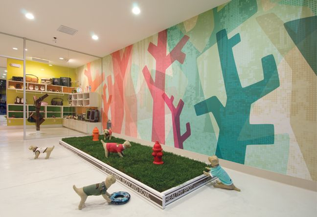 Doggy daycare: Design Inspiration, Small Dogs, Wall Graphics, Doggies Stuff, Dogs Open, Healthy Spots, Doggies Daycares Ideas, Pet Projects, Brady4Dog Daycares