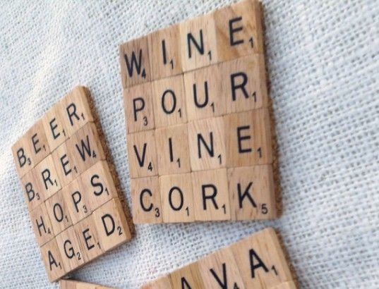 Is your Scrabble game short more than a few letters? Turn your remnant Scrabble pieces into cool coasters!