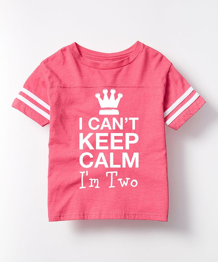 Hot Pink 'I Can't Keep Calm' Football Tee - Toddler & Girls