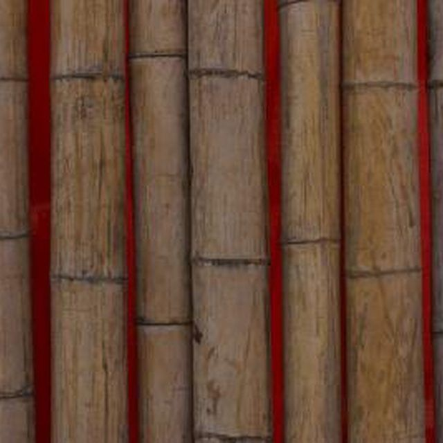 Bamboo poles are often used in furniture.
