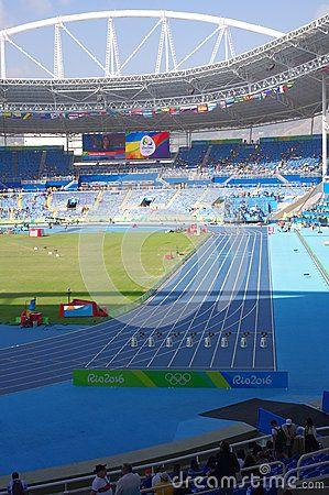 Olympic Stadium, Estádio Olímpico João Havelange, in Rio de Janeiro during Rio2016 Athletics competition with half empty seats. Photo taken on: Aug 13th, 2016