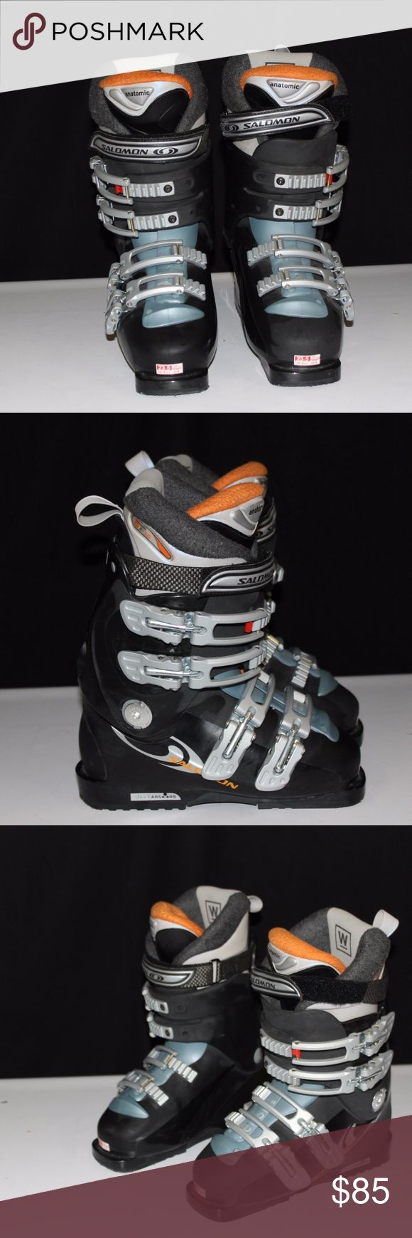 Womens Salomon Charcoal Blue Anatomic Ski Boots 6 Womens Salomon Charcoal Blue Anatomic Ski Boots Size 6   Good, pre-owned condition. Some signs of wear, no flaws   Thanks for looking!  BA7L1 Salomon Shoes Winter & Rain Boots