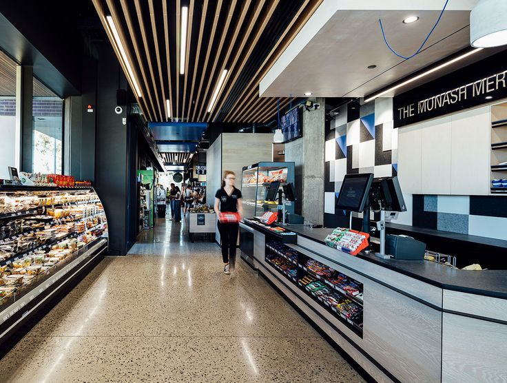 The Monash Merchant chose Havwoods PurePlank Oak Benon to clad counters and shelving throughout the busy and bustling store.