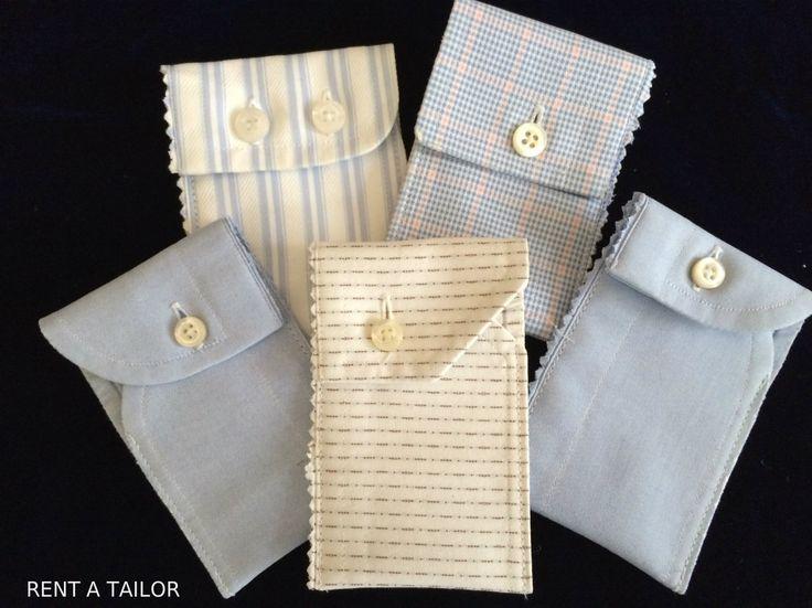 Manschettentäschchen aus alten Herrenhemd Upcycling Idee