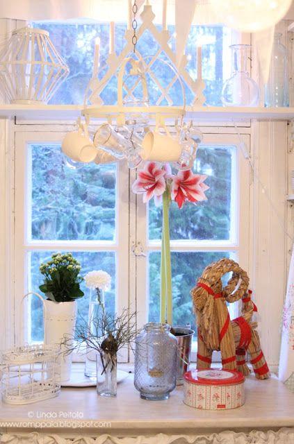 Christmas in the kitchen, amaryllis, Scandinavian christmas Romppala - Lindan pihalla