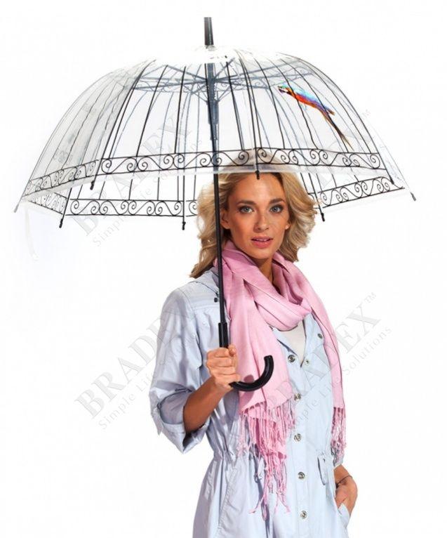 Зонт-трость «ПТАШКА В КЛЕТКЕ» АРТИКУЛ: SU 0010 Даже промозглым дождливым днем предпочитаете оставаться в тренде? Мечтаете добавить своему образу капельку романтизма и утонченности? Тогда эксклюзивный зонт-трость «ПТАШКА В КЛЕТКЕ» просто создан для Вас! • Надежно укрыв Вас от непогоды, он создаст трогательный и уточенный образ таинственной незнакомки. • Милый принт с маленькой пташкой, сидящей в клетке, внесет в Ваш образ капельку загадочности, но не скроет Вашего лица и прически. Готовьтесь…