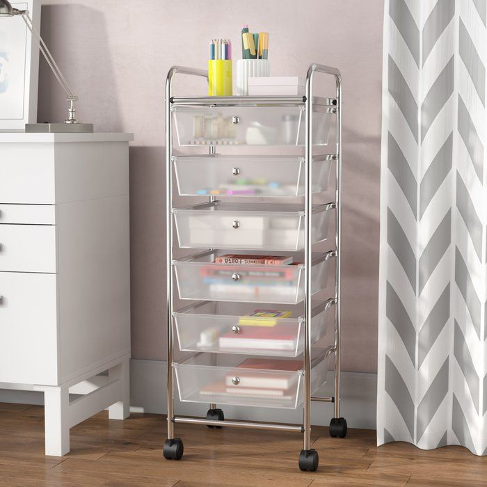 Wellston 6 Drawer Rolling Storage Chest | Storage drawers ...