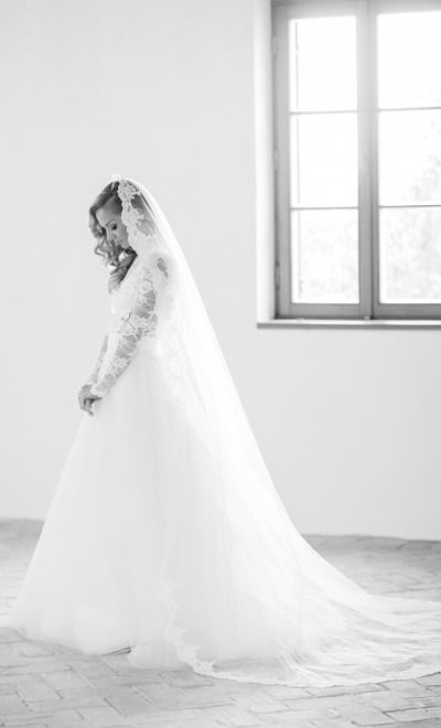 Lace covered bride: http://www.stylemepretty.com/destination-weddings/2014/10/22/classic-elegant-slovakia-wedding-at-hotel-albrecht/ | Photography: Peter & Veronika - http://peterandveronika.com/