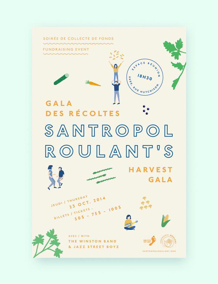 poster-santropol-2014-print, by Gabrielle Matte poster design layout illustration typography