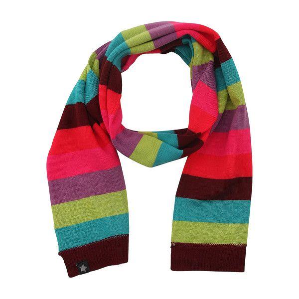 Molo Fresh Girly Rainbow Stripe Knitted Scarf