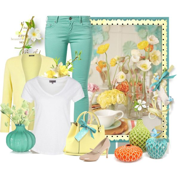 """spring styled pants"" by countrycousin on Polyvore"