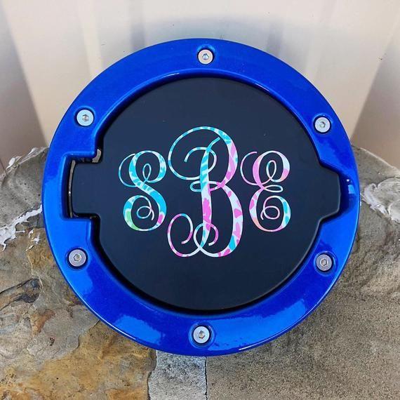 Fuel Door With Monogram For Jeep Wrangler Jl Jk Gas Cap Cover Jeep Wrangler Jl Monogram
