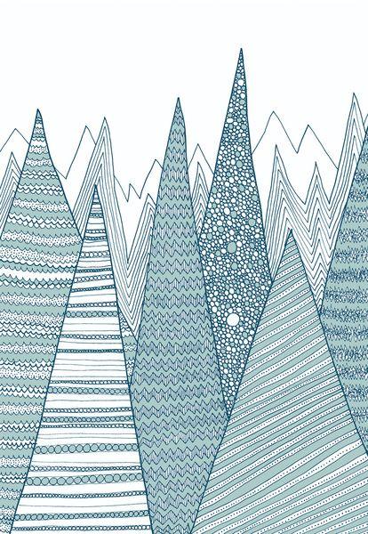 Mountains Art Print by Anita Ivancenko | Society6