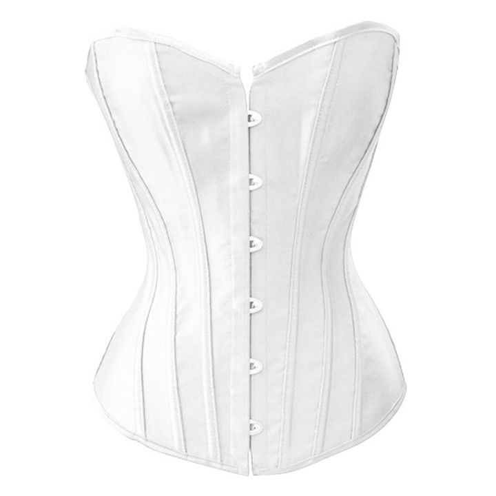 Black/White Sexy Boned Waist Training Corsets Bustiers Lace Up Corset Top Bustier Plus Size S-4XL Body Shaper 63