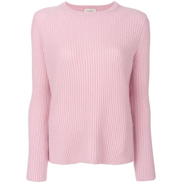 Bruno Manetti cashmere long sleeved sweater ($571) ❤ liked on Polyvore featuring tops, sweaters, pink, long sleeve tops, cashmere top, long sleeve sweater, pink top and pink cashmere sweater