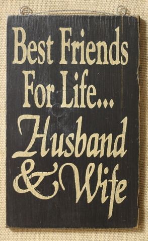 VSE - Best Friends for Life Sign - Black  / Like us on Facebook! https://www.facebook.com/AllysonsPlaceDecor / #Primitive / #Country