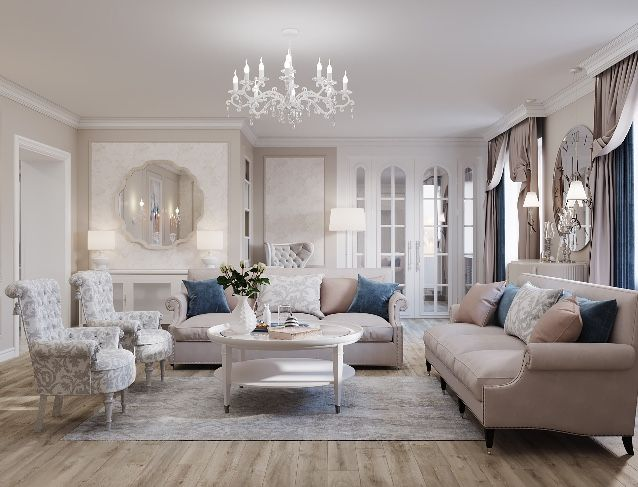 Lovely Classic Living Room Interior Design In Pastel Colors House Beautiful Kitchens Classic Living Room Classic Interior #pastel #colours #for #living #room