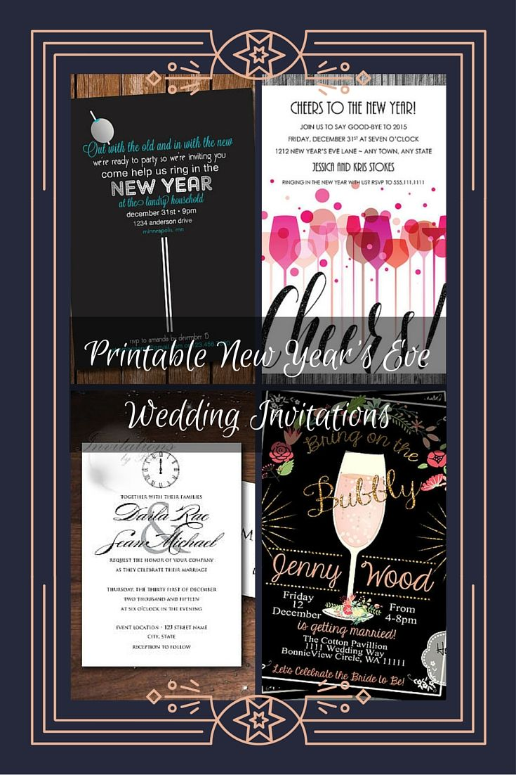 new years eve wedding invitations best 25 new years invitations ideas on 6154