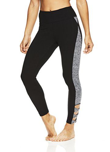 0c46887391ca9 Gaiam Womens Om Yoga Pants Performance Compression Full Length Spandex  Leggings Black Tap Shoe Large -- Check out the image by visiting the link.