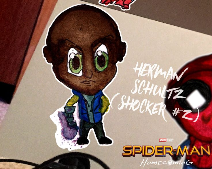 A personal favourite from my Etsy shop https://www.etsy.com/au/listing/535370026/herman-schultz-shocker-2-chibi-spider