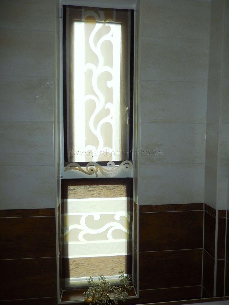 Designer Sichtschutz fürs Bad in braun - http\/\/wwwgardinen-deko - gardinen für badezimmer
