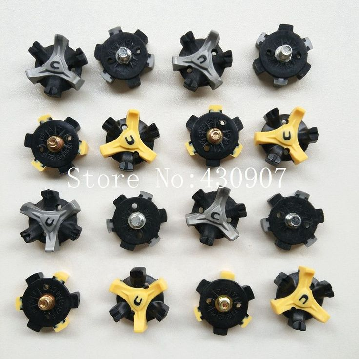 Free Shipping 22Pcs Golf Shoe Spikes CHAMP Small Thread Spikes Golf spike Gray Yellow For Golf Sho