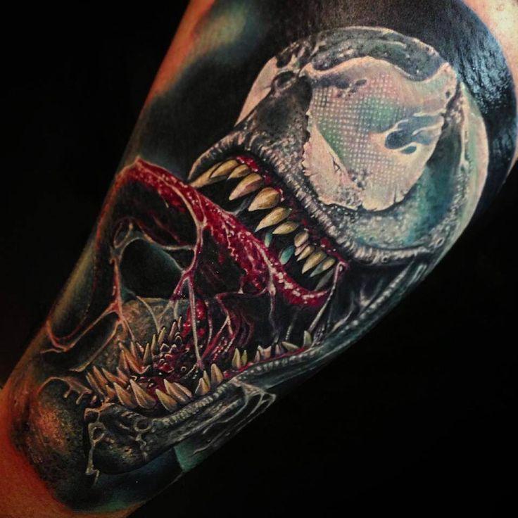 sick venom tattoo by roman abrego tattoo pinterest roman venom and by. Black Bedroom Furniture Sets. Home Design Ideas