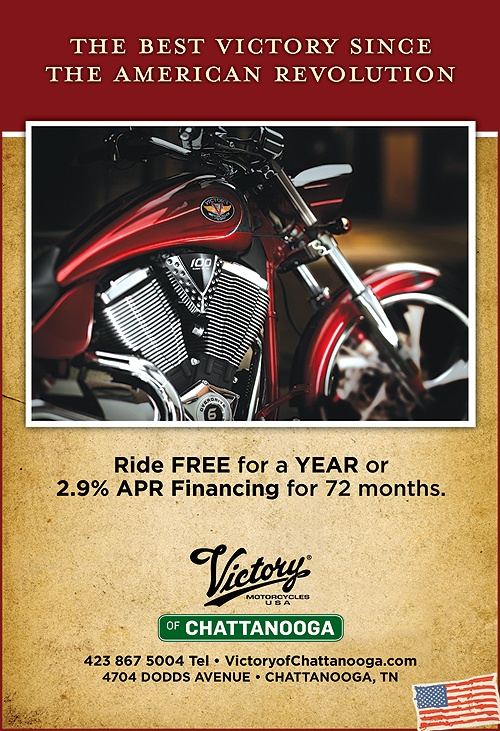 Print ads for Victory motorcycle dealer