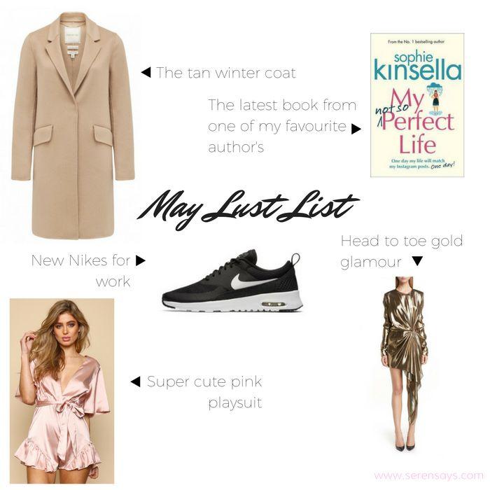 May Lust List   Serensays.com