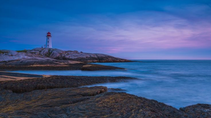 Sunset at Peggy's cove, Nova Scotia
