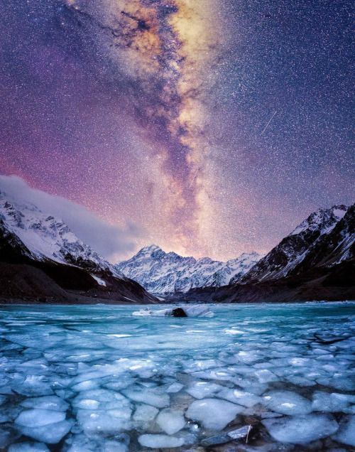 landscape-photo-graphy: The Stunning Winter Night of New...