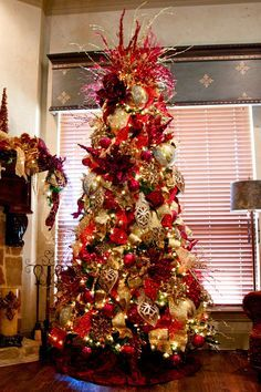 Images Of Red And Gold Christmas Trees Roselawnlutheran - Red Christmas Tree For Sale