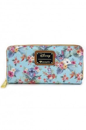 6fb5e7e5a51 Loungefly x Stitch Tropical Floral Print Wallet