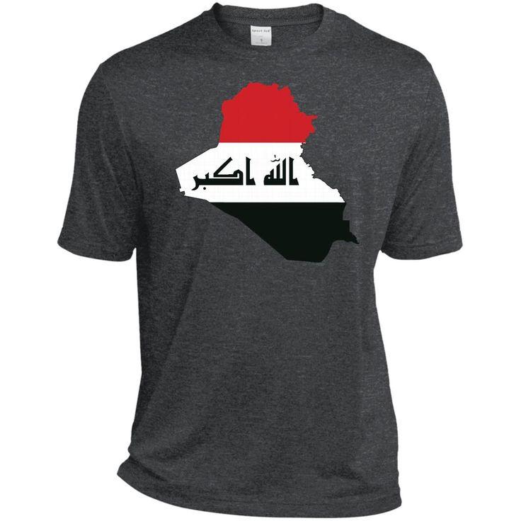 iraq flag-01 ST360 Sport-Tek Heather Dri-Fit Moisture-Wicking T-Shirt