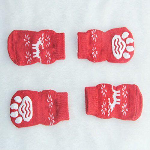 Aus der Kategorie Pfotenschutz  gibt es, zum Preis von   <b>Packung mit 4 süße Socken.</b> <br> Hauptsächlich verwendet, um warm zu halten Pfoten Ihres Hundes Wohnung an Wintertagen oder in nicht zu ruinieren und sogar der Hund die Beine bei Dermatitis oder anderen Problemen bewahren. <br> Mit rutschfeste Unterseite. <br> Die Socken werden Hund Pfote mehr bequem und warm, wenn Spaziergang machen oder in einem kalten Tag laufen. <br> Einfach zu starten und mit der elastischen Konstruktion…