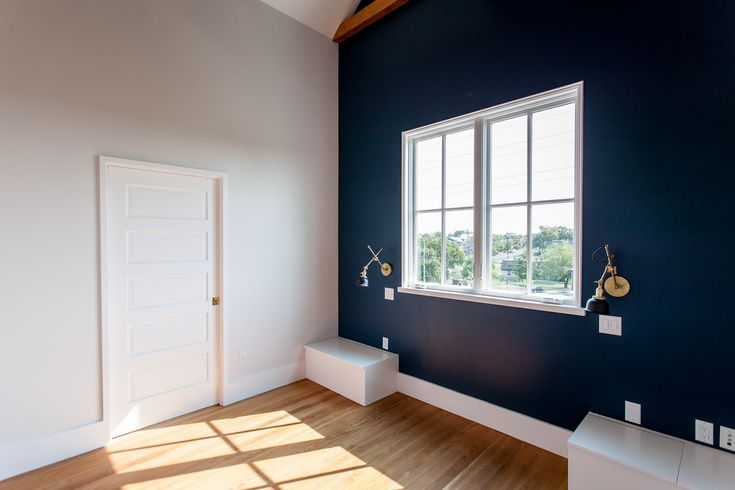 dark accent wall in master bedroom