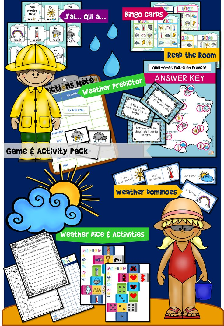$ QUEL TEMPS FAIT-IL? | FRENCH WEATHER GAME ACTIVITY PACK