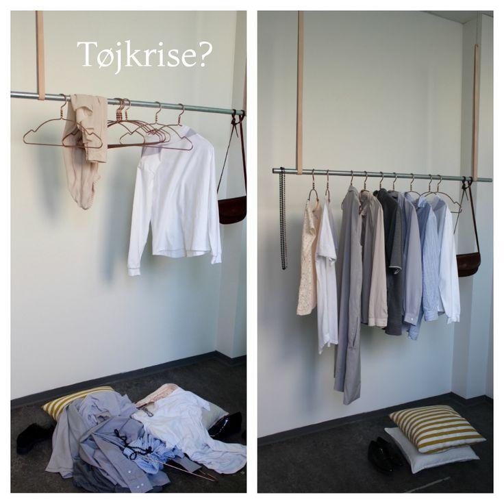 Med bøjlestangen fra Cle Design gør vi det lidt lettere at have tøjkrise. Tøjstativet giver et godt overblik over din garderobe og så er det håndlavet og har et minimalistisk, tidsløst design.